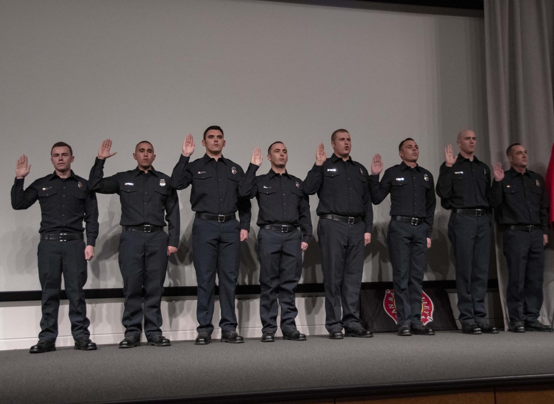 Recruits taking the oath