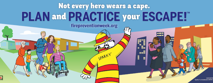 Fire Prevention Week 2019 Banner