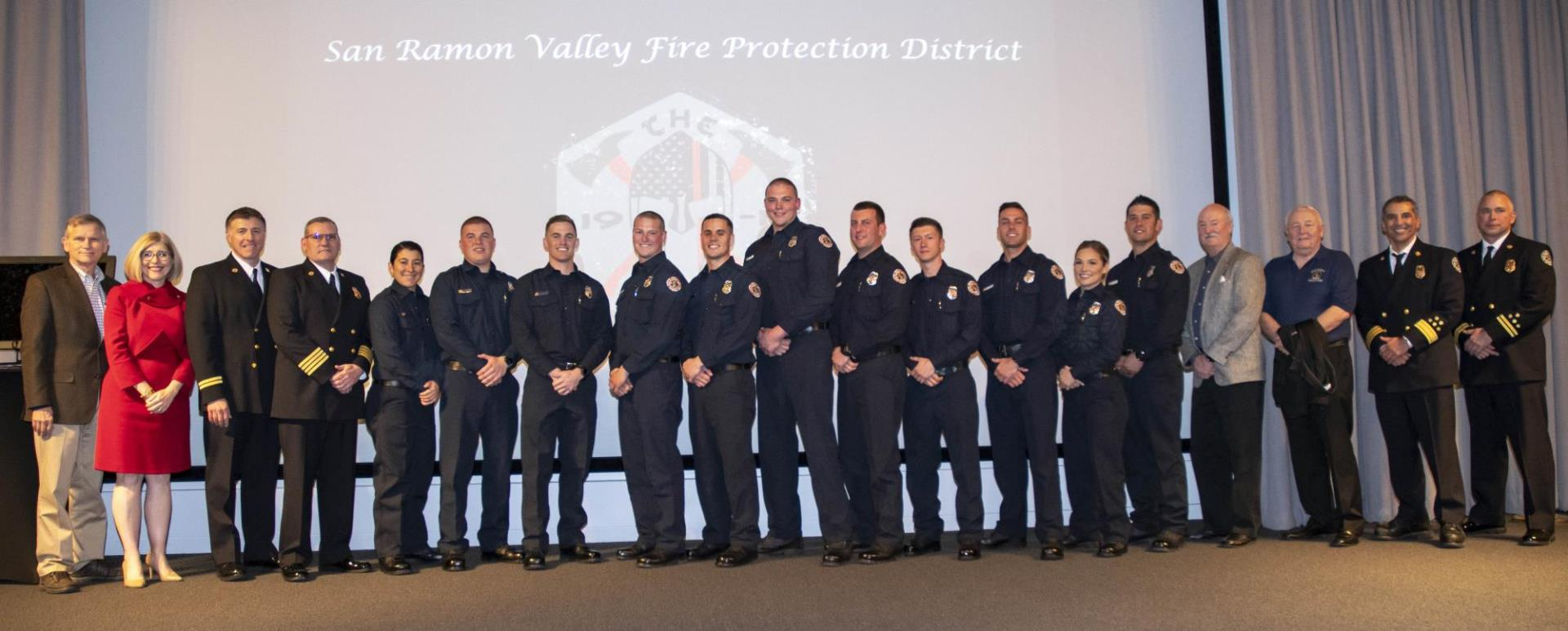 Fire Board of Directors, Command Staff, and Academy Class 2019-1