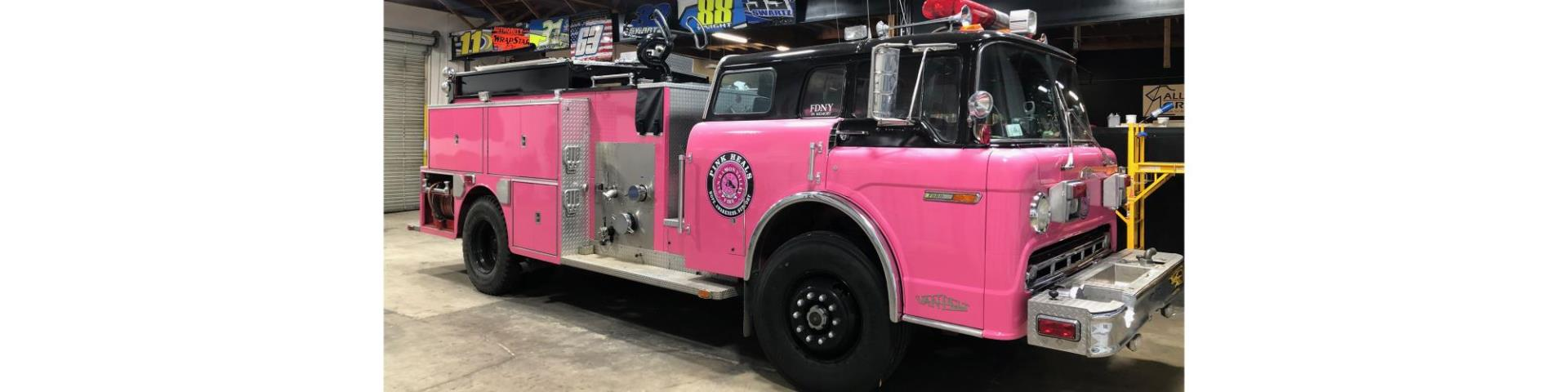 Pink Heals Pink Fire Engine