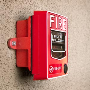 Fire alarm lever